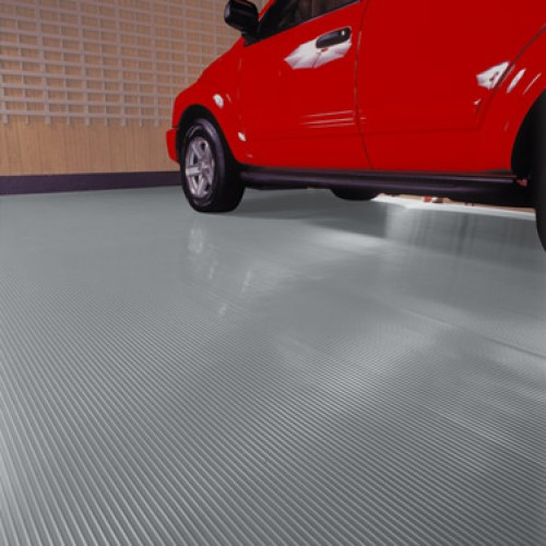 Ribbed Rolled Garage Flooring - 8.5'x22' - 55 mil