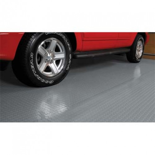 Rolled Garage Flooring - Coin Pattern - 5'x10' - 75 mil