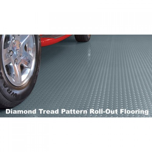 Diamond Tread Garage Rolled Flooring - 5'x10' - 75 mil