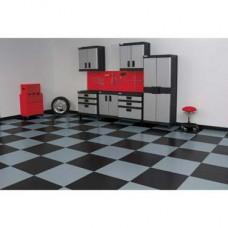"RaceDay Peel & Stick Garage Floor Tiles - Diamond Tread - 24"""