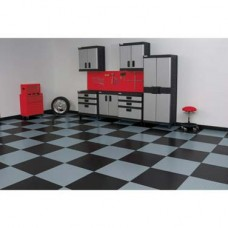 "RaceDay Peel & Stick Garage Floor Tiles - Diamond Tread - 12"""