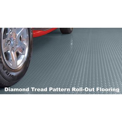 Diamond Tread Rolled Garage Flooring - Commercial Grade