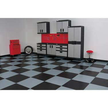 RaceDay Peel & Stick Garage Floor Tiles - Levant