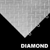 Diamond Tread Garage Floor Tiles - Race Deck