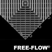 Free Flow Garage Floor Tiles - Race Deck