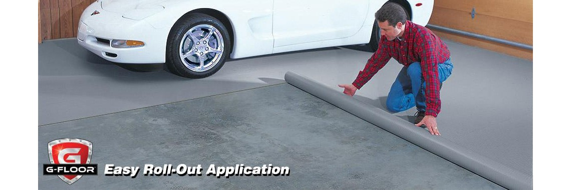 Best cheap garage floor tiles options rolled flooring for Inexpensive floor covering ideas