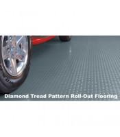 Diamond Tread Garage Rolled Flooring - 5'x10' - 75 mil